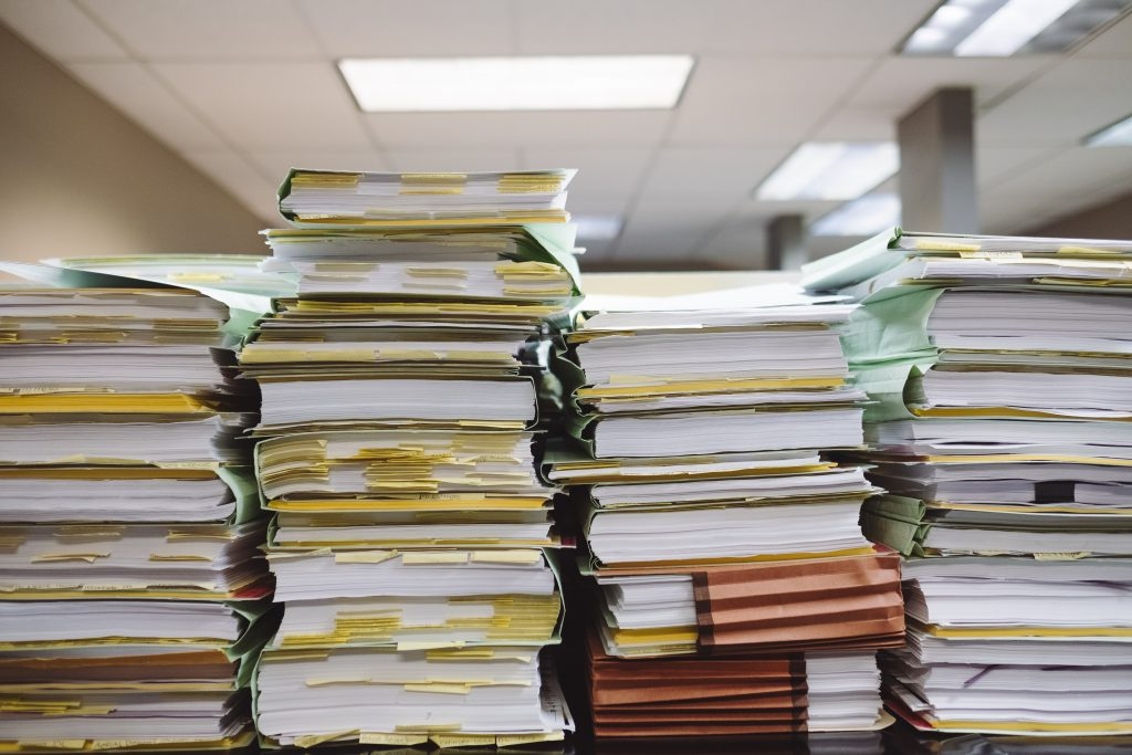 Financial Reports stacked on top of
